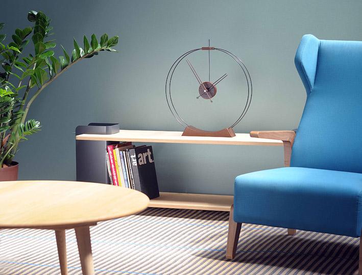 Table Top Design Fiberglass Clock
