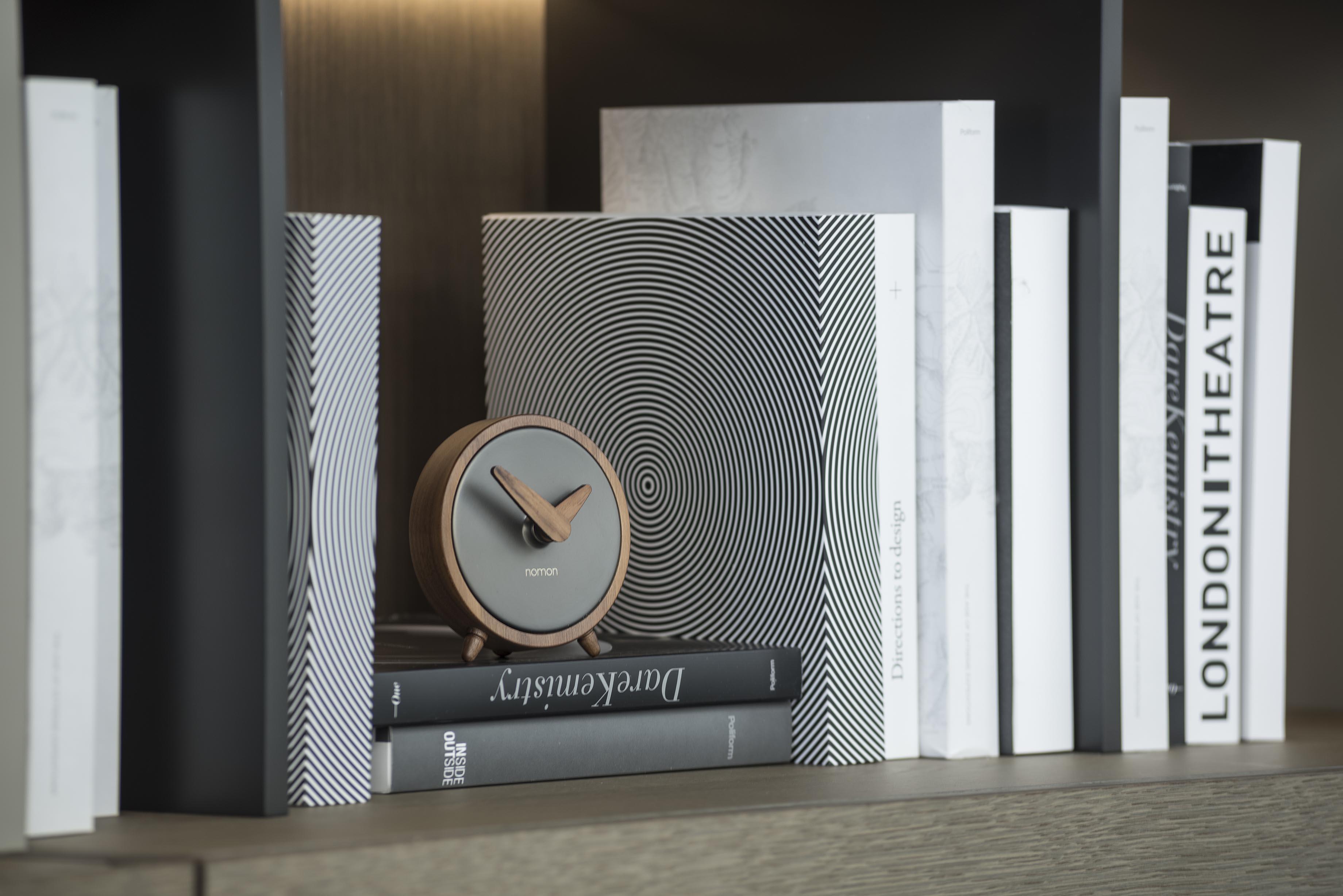 Graphite Wallnut Design Clock