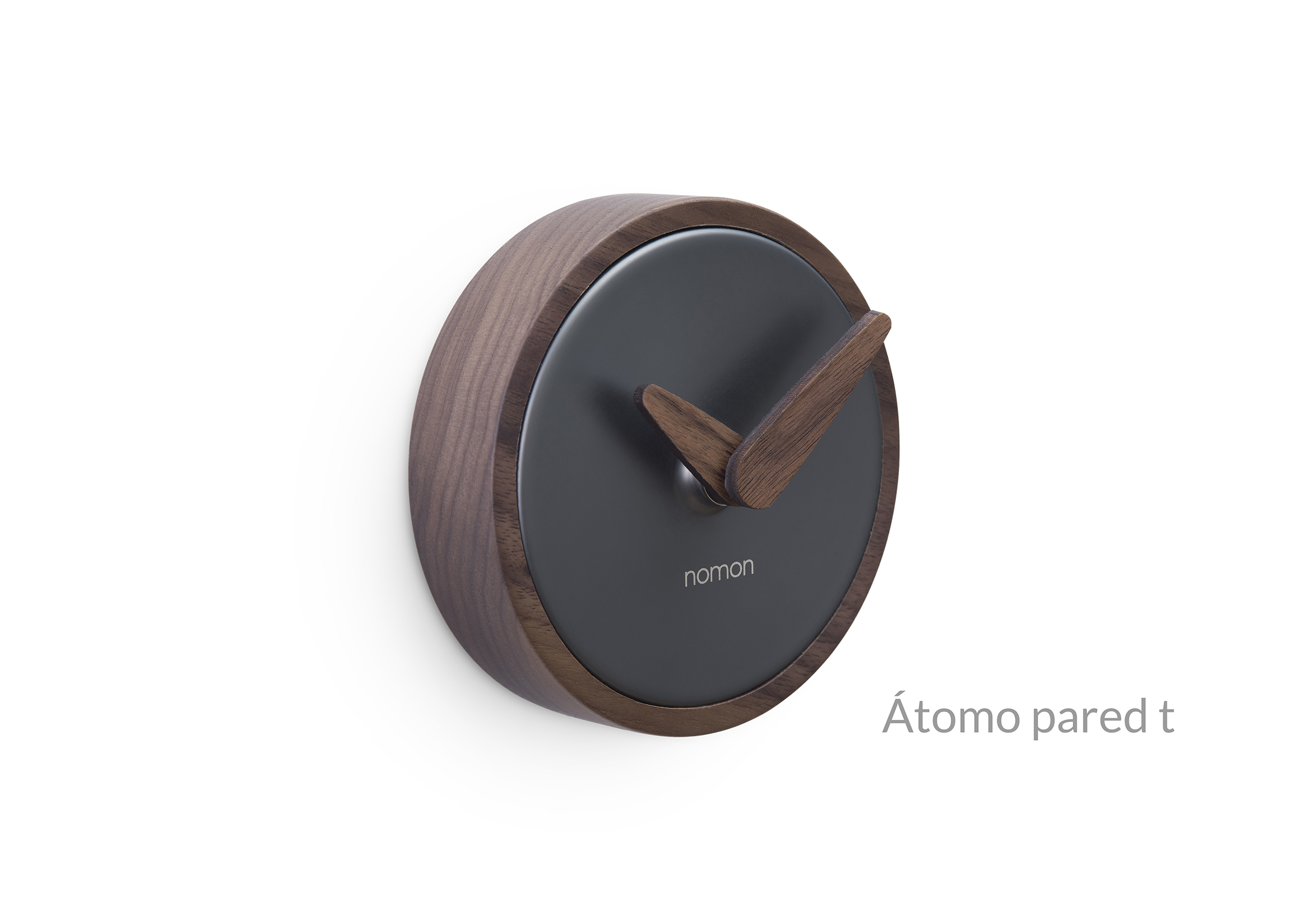 Atomo Wall Clock Nomon Graphite Finish