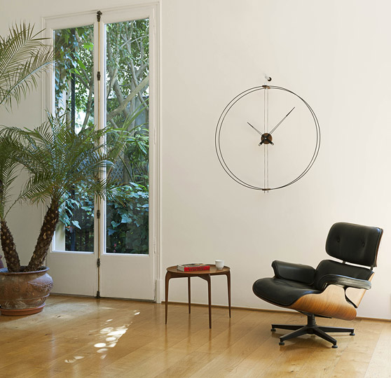 Wallnut Fiberglass Wall Clock