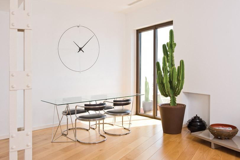 Design Fiberglass Metal Laquered Wood Clock