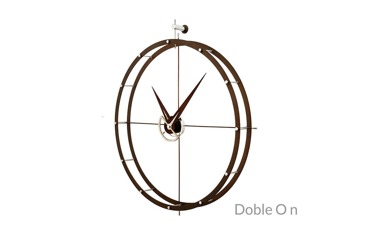 Metal Calabo Wood Wall Clock