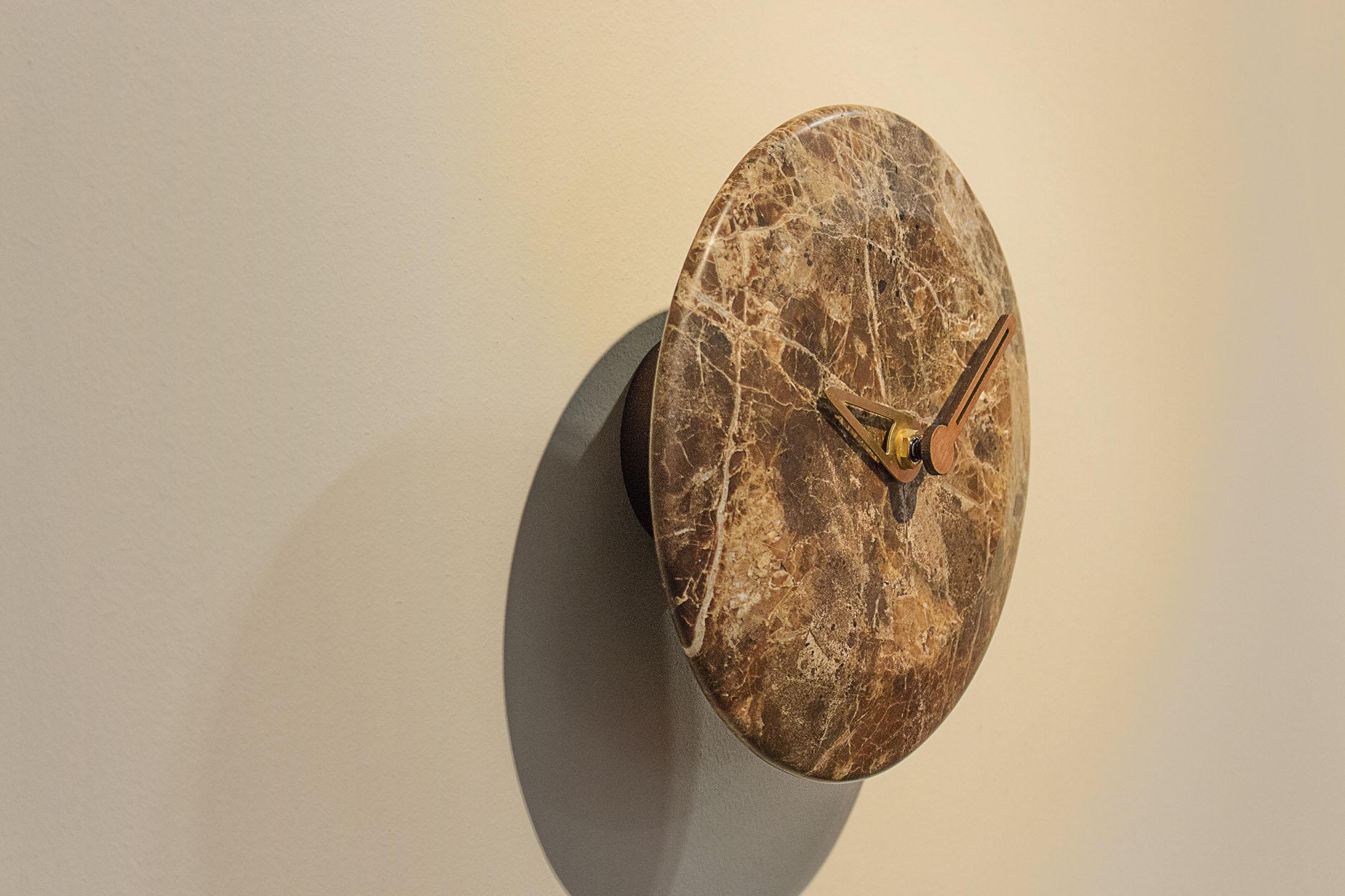 Emperador Marble Wall Clock