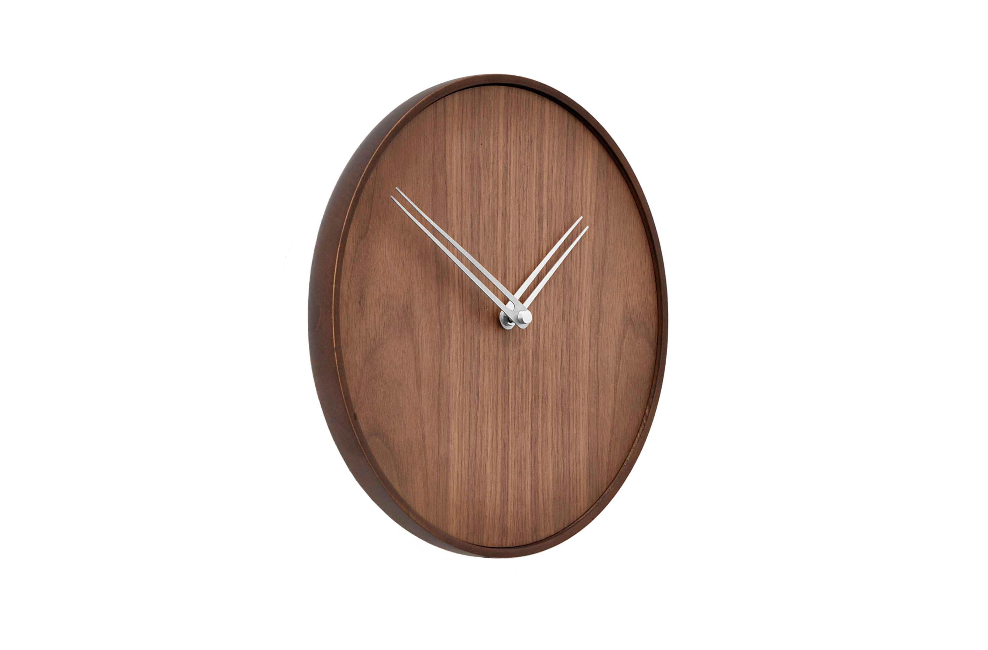 Wallnut Design Wall Clock