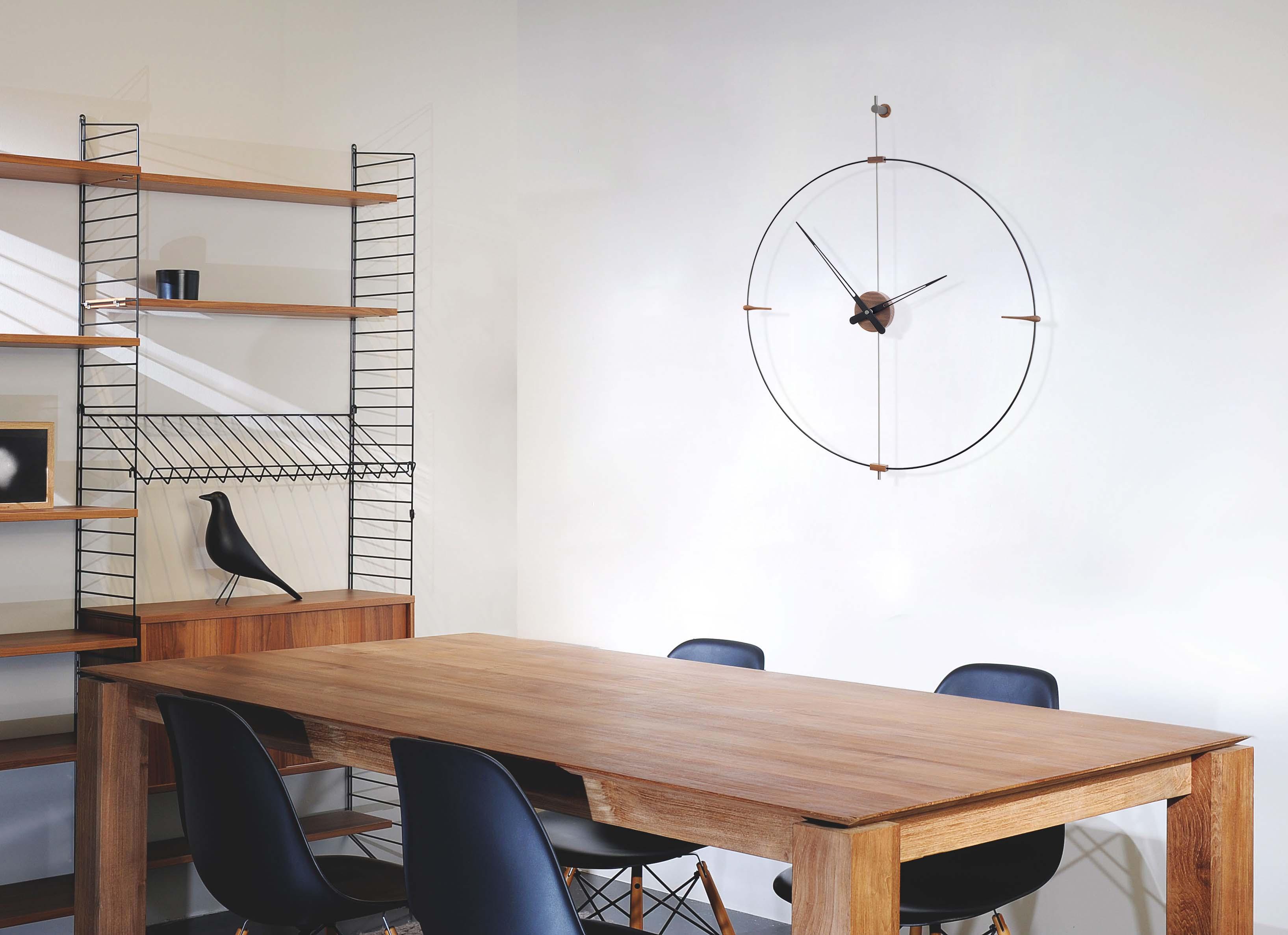 Wallnut Fiberglass Design Clock
