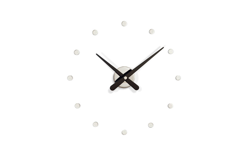 Laquerd Wood Inox Wall Clock