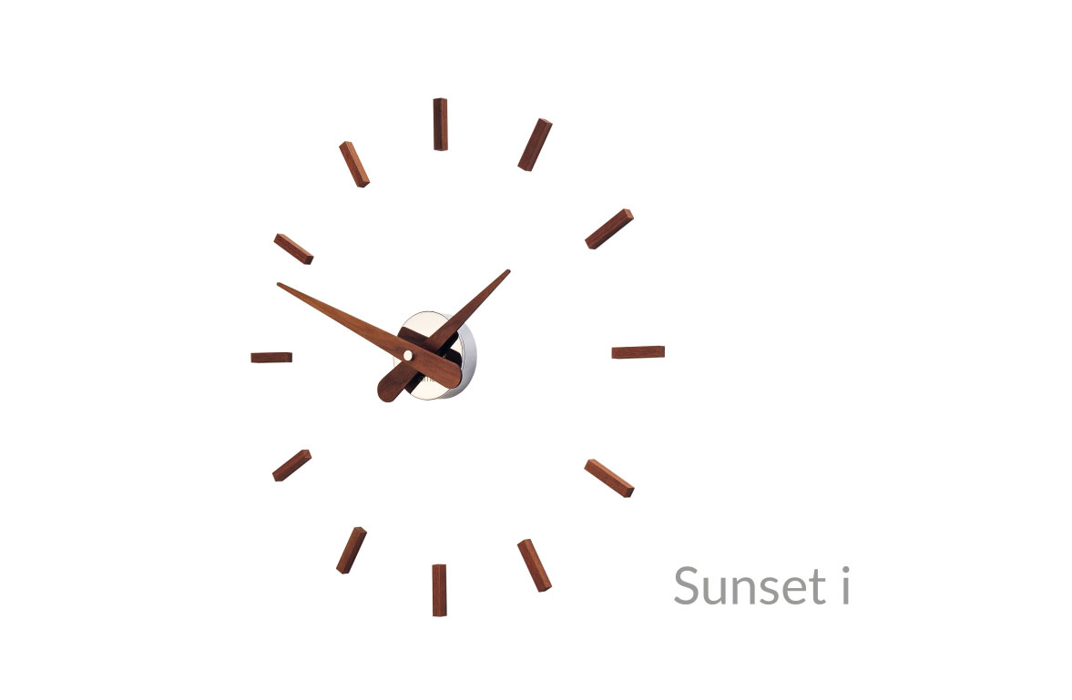 Inox Wallnut Wall Clock