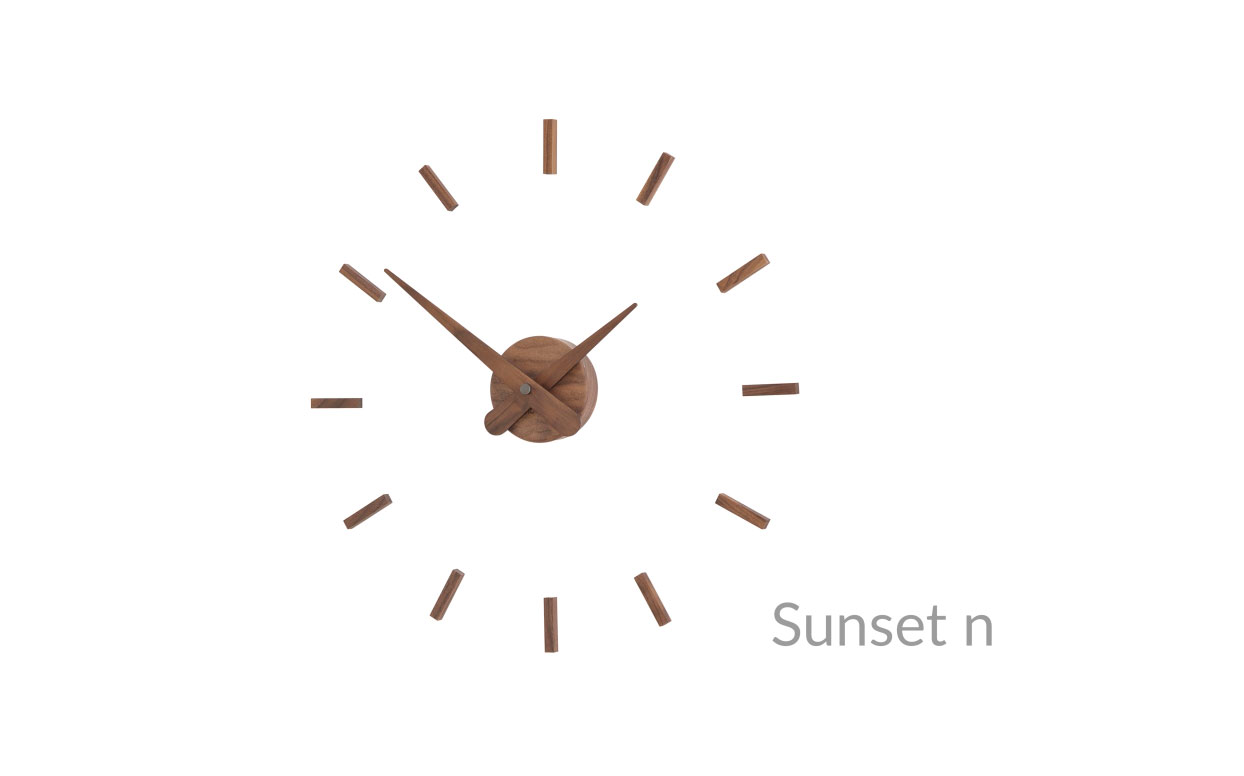 Wallnut Wall Clock