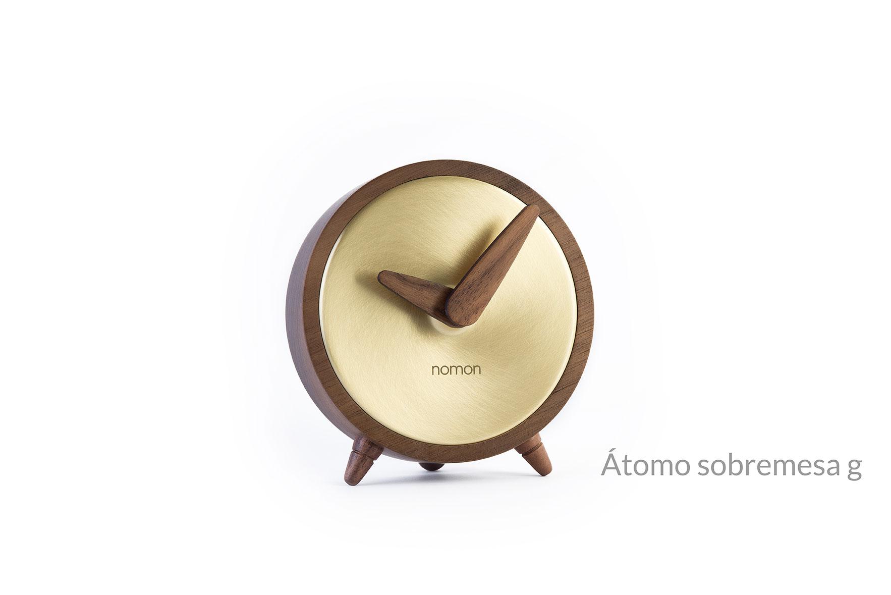 Atomo Table Golden Clock