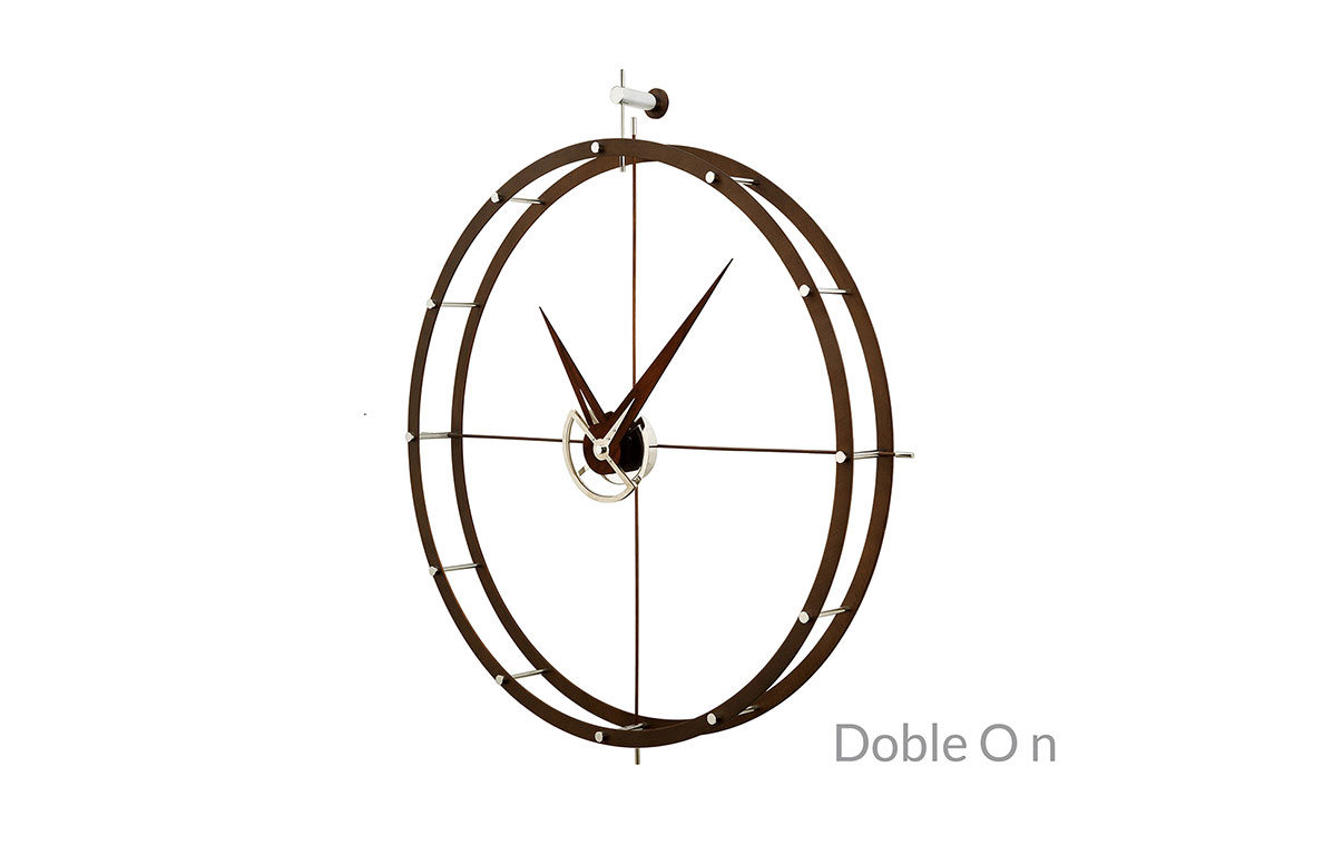Metal Calabo Wood Wall Clock