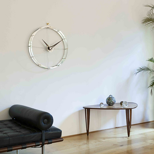 Design Graphite Metal Wall Clock