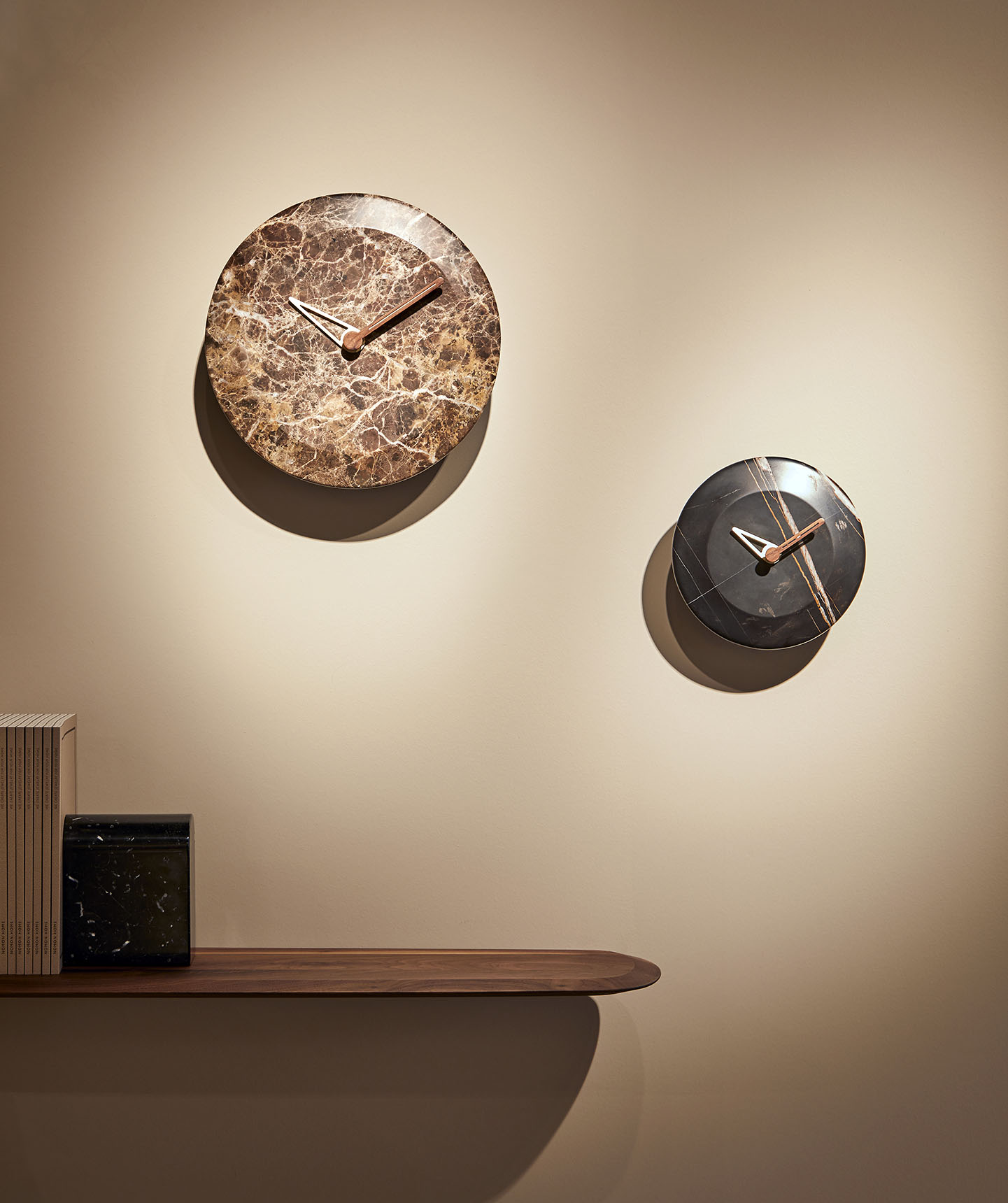 Sahara Emperador Marble Wall Clock