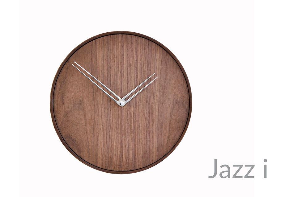 Wallnut Design Wall Clock