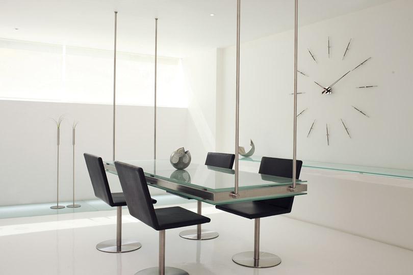 Design Wallnut Inox Wall Clock