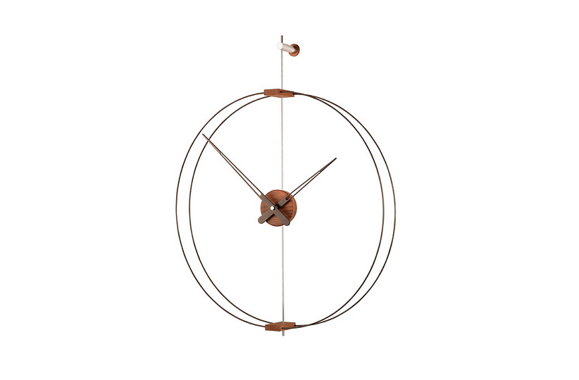Wallnut Fiberglass Design Clock