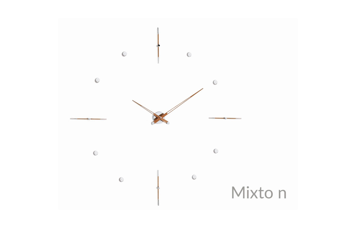 Wallnut Inox Wall Clock