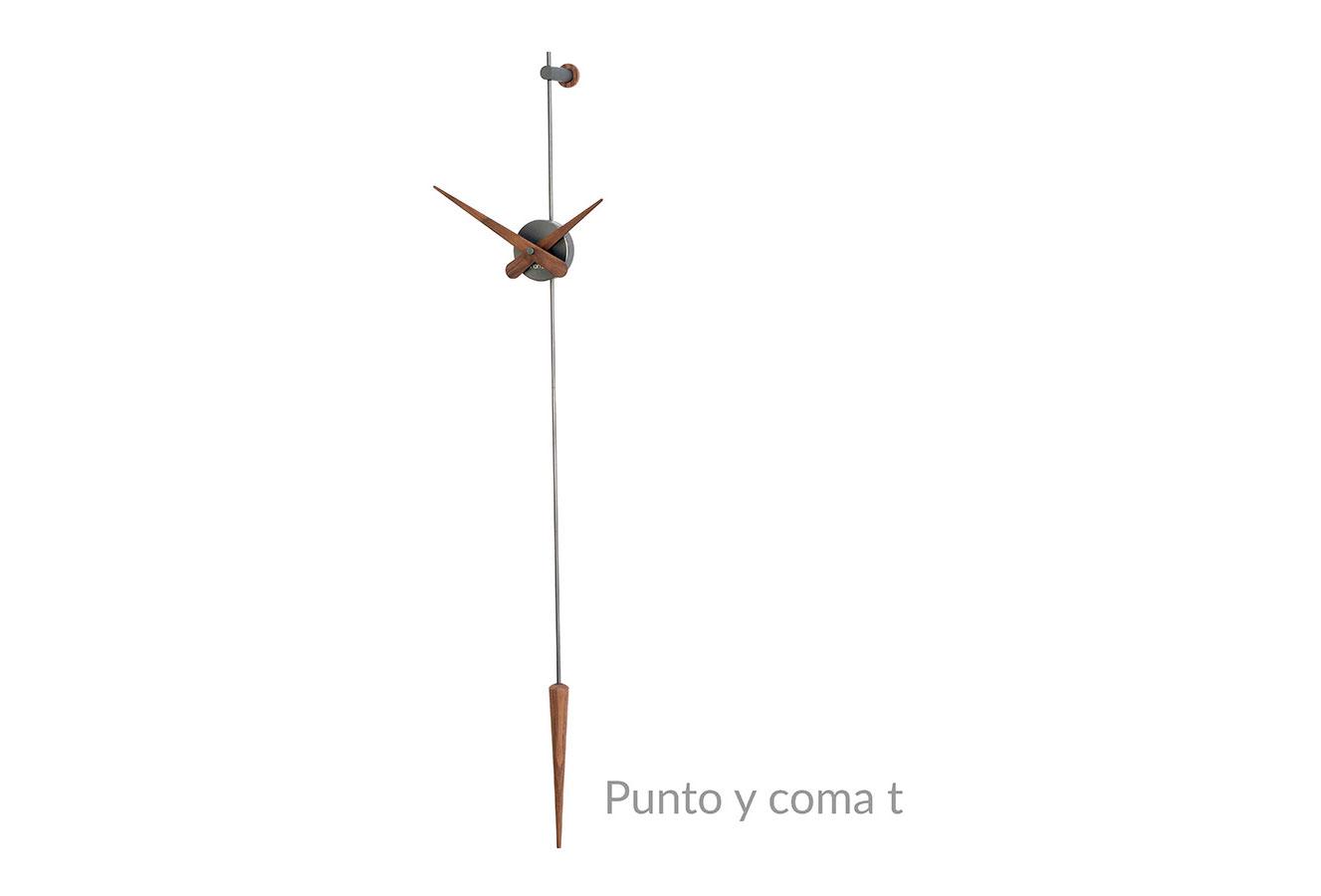 Wallnut Graphite Design Wall Clock Pendulum