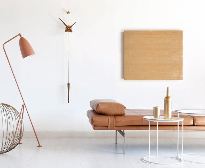 Wallnut Brass Design Wall Clock Pendulum