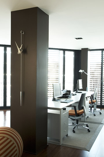 Inox Design Wall Clock Pendulum