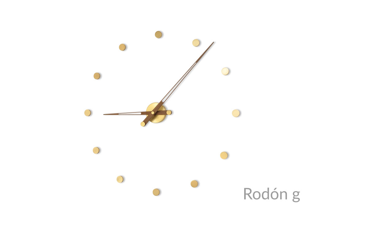 Brass Wallnut Design Wall Clock