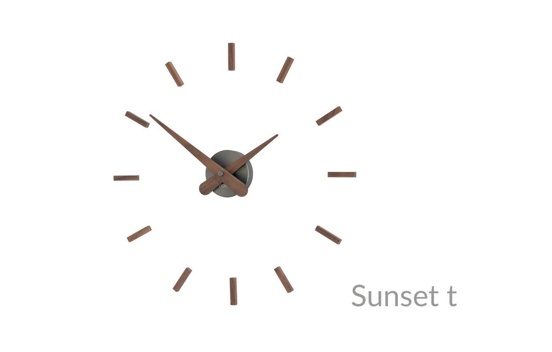 Graphite Wood Wall Clock