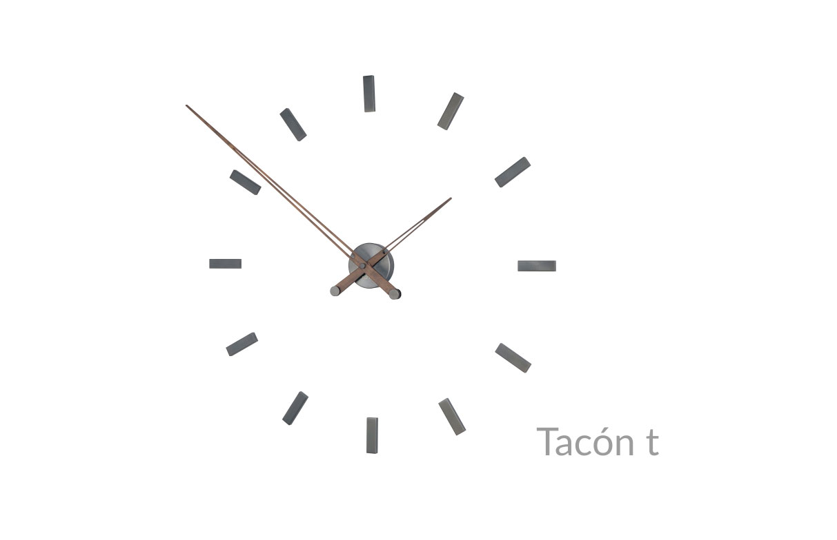 Design Graphite Wallnut Wall Clock